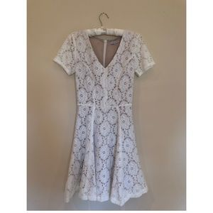 1 State White Eyelet Dress - Extra Small